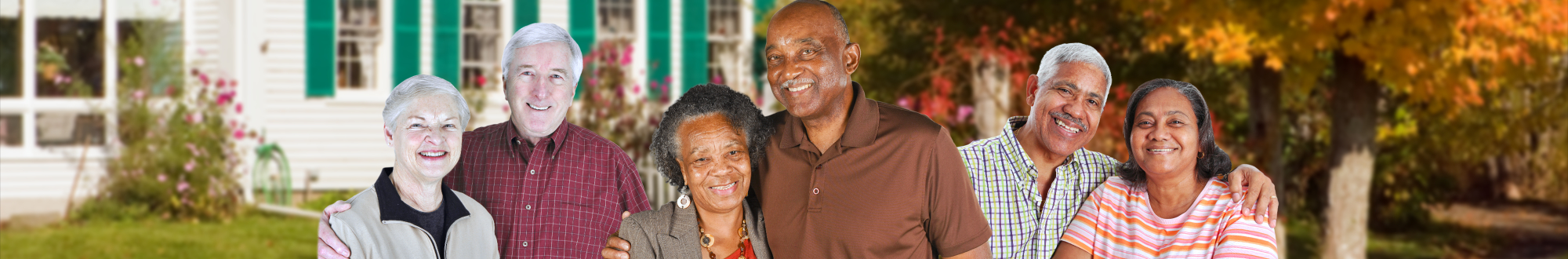 portrait of a happy old couples